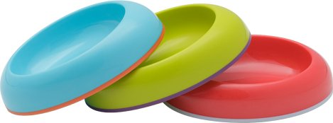 3 Pack Asst Dish Stayput Toddler Bowls in Blue Raspberry / Grape / Cherry