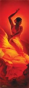 Amazon.com: Flamenco Dancer, Art Slim Poster Print, 12 by 36-Inch