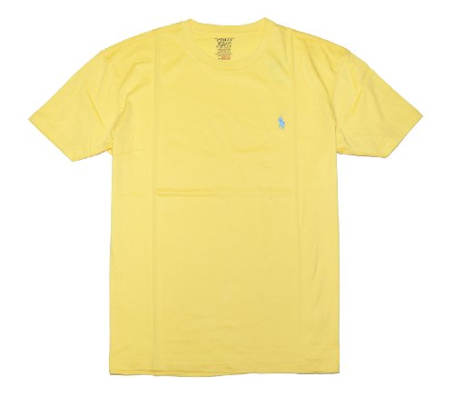 Polo Ralph Lauren Men Pony Logo T-Shirt (Large, Yellow)