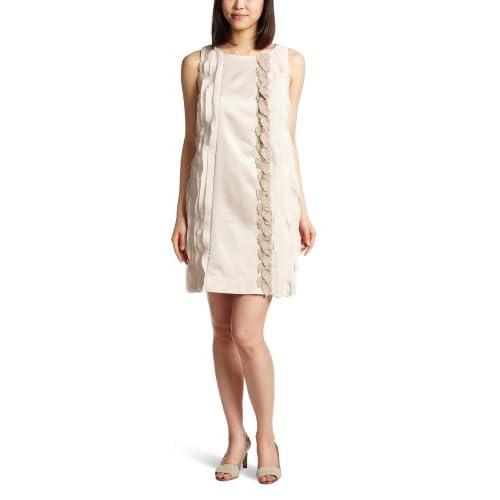 (イラン イラン)YLANG YLANG バイカラーリーフ ワンピースドレス Y131522  BEIGE S