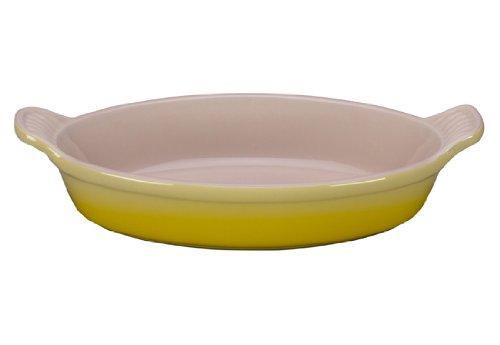 Le Creuset Heritage Stoneware 24-Ounce Oval Au Gratin Dish, Soleil