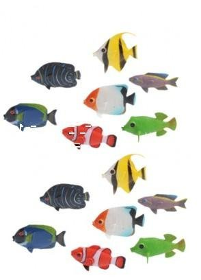 2 DOZEN Mini Tropical Fishes /Soft Bendable Toy/ Novelty / Gift / Decor / Giveaway - 1