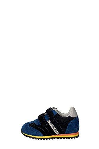 Bikkembergs BKP102329 Sneakers Bambino Camoscio/pelle Blu Blu 23