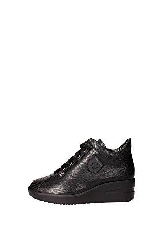 Agile By Rucoline 226 A Sneakers Donna Pelle Sintetico Nero Nero 41
