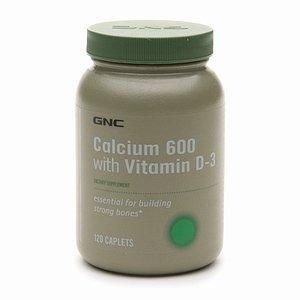 Gnc Calcium 600 With Vitamin D-3, 120 Caplets