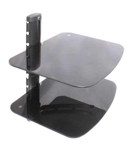 US Brown Bear DS-B2-Blk Two Shelf AV Component Wall Mount (Black)