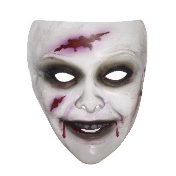 Transparent Women's Zombie Mask - 1