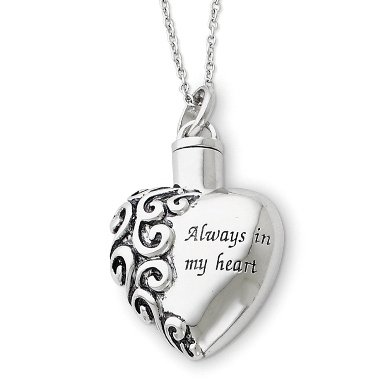 Always in My Heart Ash Holder Necklace