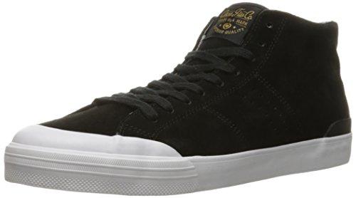 C1RCA Men's Fremont Mid Skateboarding Shoe, Black/Gold, 10 M US