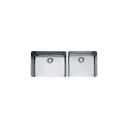 Franke Kbx12043 Kubus 15 Inch X 38 Inch Offset Double Bowl Undermount Kitchen Sink