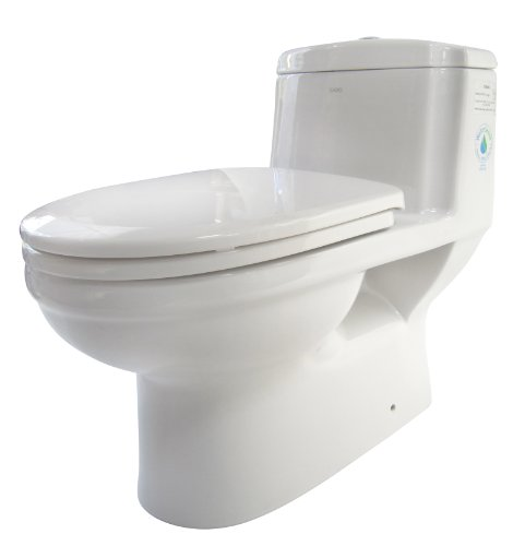 EAGO TB222 Dual Flush Eco-Friendly Ceramic Toilet, 1-Piece