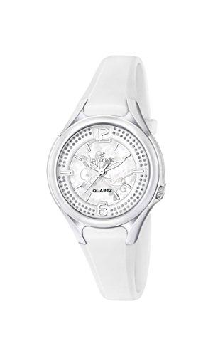 Calypso-Orologio da donna al quarzo con Display analogico e cinturino in plastica, colore: bianco, K5575/1