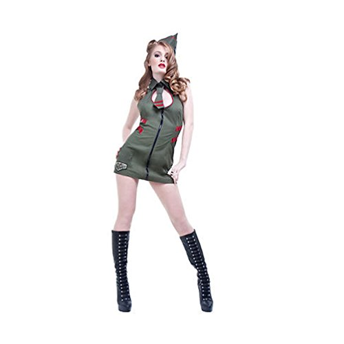 Lip Service Major Mayhem Women's Soldier Plaeated Costume Dress Sets roxette roxette room service