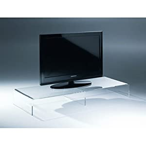 tv konsole aufsatz aus acryl breite 80cm farbe amazon. Black Bedroom Furniture Sets. Home Design Ideas
