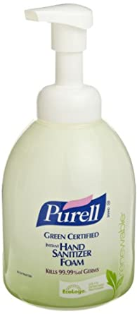 PURELL 5791-04 Green Certified Instant Hand Sanitizer Foam, 535 mL Pump Bottle (Case of 4)