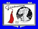 "3″ x 2″ Snaplock Silver Eagle Coin Holder with ""Graduation Grad-tassel Theme"" (Without Coin)"