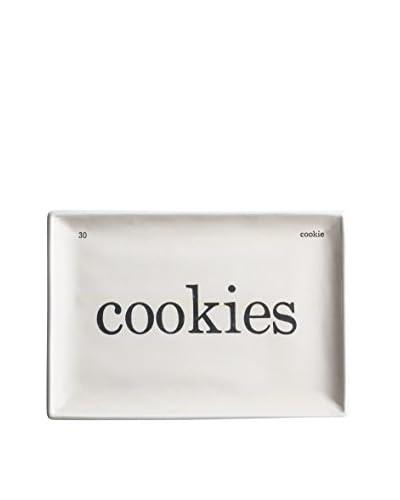 "Rosanna Voyage Cookies Tray, Beige, 9.5"" X 6.5"""