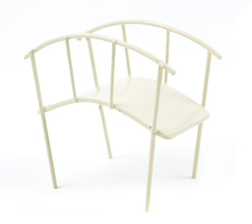 Touch of Nature Mini Iron Fairy Garden Bridge, Cream