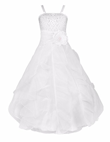 YiZYiF-Blumenmdchen-Kleid-Kinder-Mdchen-Kleid-Festlich-Brautjungfer-Hochzeit-Party-Kleid-Organza-Festzug-92-164-Wei-140