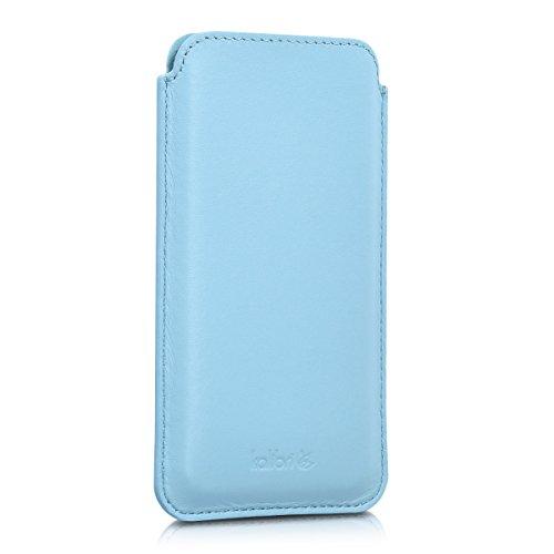 kalibri-Leder-Tasche-Hlle-fr-Apple-iPhone-6-6S-7-Handy-Case-Cover-Echtleder-Schutzhlle-in-Hellblau