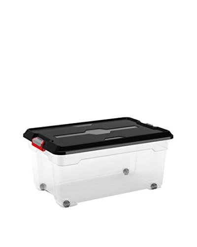 KIS Set Contenitore Organizzazione Spazi 6 pezzi Moover Box L Trasparente/Nero