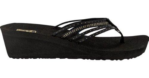 Womens Black Flip Flops front-486737