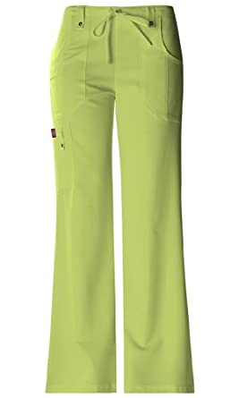 Dickies 'Drawstring Flare Leg Pant' Scrub Bottoms Sweet Apple Green Small Petite