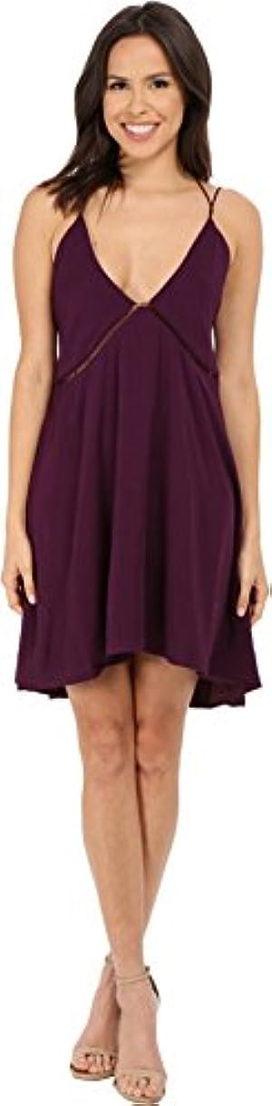 StyleStalker Women's Poolside Slip Aubergine Dress MD (US Women's 6)