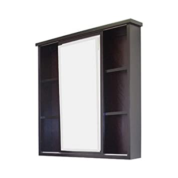 "35"" x 35"" Surface Mount Beveled Medicine Cabinet Finish: Walnut, Hardware Finish: Chrome"