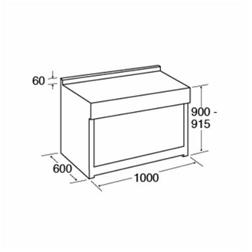 CDA RV1061 100cm Twin Cavity Range Cooker, Electric Ovens & Ceramic Hob