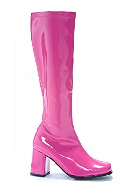 "Ellie Shoes Women's GOGO 3"" Heel Zipper Fuchsia Boot 5 B(M) US"