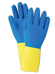 Magid Glove and Safety HandMaster Heavy Duty Neoprene Over Latex Cleaning Glove, 12 Pack Item 738TM, Men's Size Medium(Pack of 12)
