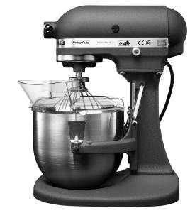 kitchenaid prezzo kitchenaid 5kpm50egr robot da cucina pro k5 2 ciotole colore grigio. Black Bedroom Furniture Sets. Home Design Ideas