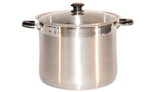 Concord Cookware SAS8000-28 Stainless Steel Tri-Ply Bottom Stockpot Cookware, 16-Quart