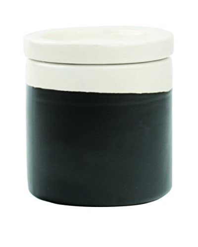 Canvas Home Chalkboard Condiment Jar with Lid, White/Black