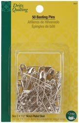 Dritz Quilting Basting Pins Size 2 50/Pkg 3021; 3 Items/Order