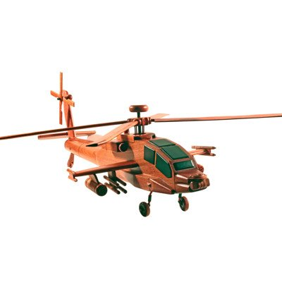 Handmade Wooden Collectable Model Apache Helicopter