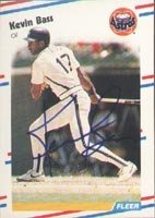 Kevin Bass Houston Astros 1988 Fleer Autographed Hand Signed Trading Card. by Hall+of+Fame+Memorabilia