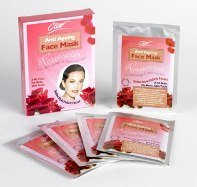5 + 5 FREE Anti-Ageing Herbal Beauty Face Masks with Rosewater, BIO-Antiage & Hyaluronic Acid