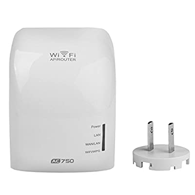 Woopower AC750 Mbps Dual Band(2.4GHz / 5GHz) Mini Wireless Router Wifi Repeater Wifi Range Extender Wireless Signal Booster