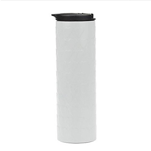 White Lovely Heart 304 Tailless Vacuum Cup Bottle.Stainless Steel Pp 500Ml