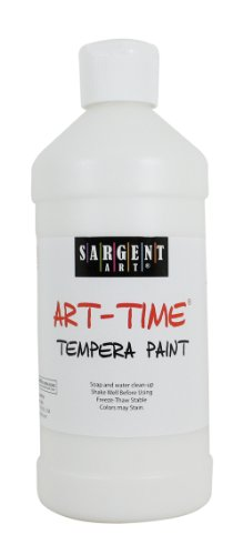 Sargent Art 22-6496 16-Ounce Art Time Tempera, White - 1