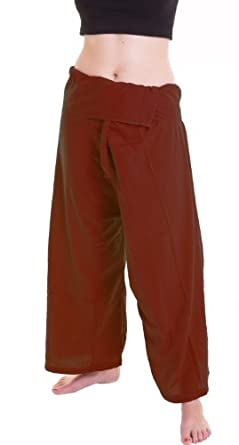 (Fine Heavy Cotton) Fisherman Pants Trousers Yoga Pants On Sell With Complimentary