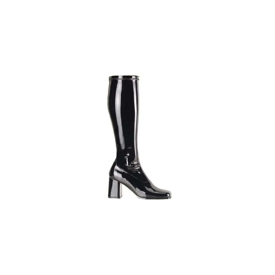 c74fd9326446 Black Wide Calf GoGo Costume Boots (Size 10) on PopScreen