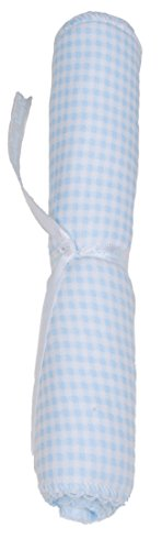 Kissy Kissy Baby Boys Homeward Gingham Embroidered Moon And Stars Burp Pad-One Size