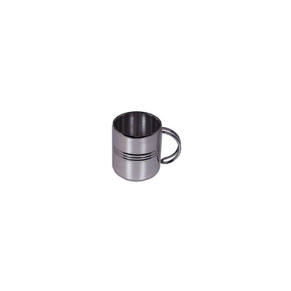 GSI 12 Oz. Stainless Steel Double Wall Ribbed Mug