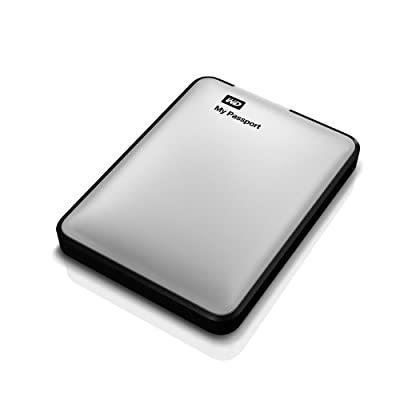 WD My Passport 1TB Portable External Hard Drive Storage USB 3.0 Silver (WDBBEP0010BSL-NESN)