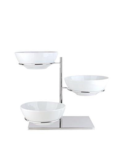 Pordamsa Set of 3 Porcelain Bowls with a Rotary Display