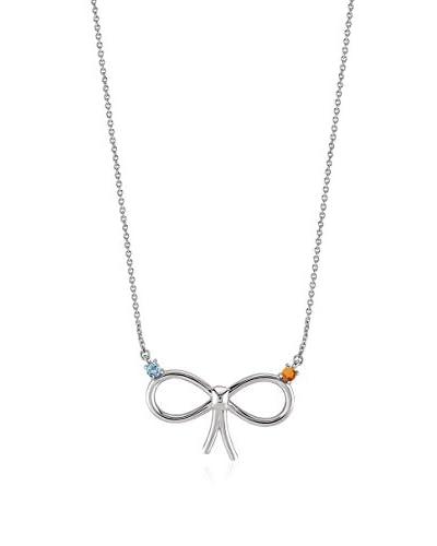Divas Diamond Collana Blue Topaz And Citrine Tie Necklace argento 925