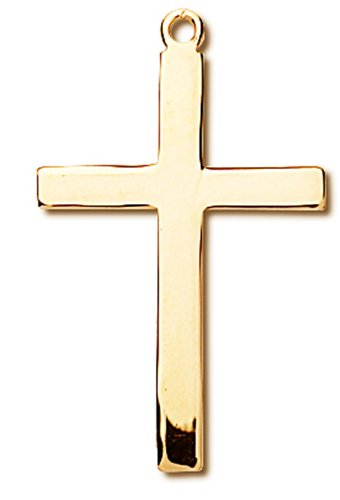 Gold Over Sterling 14K Pendant Cross
